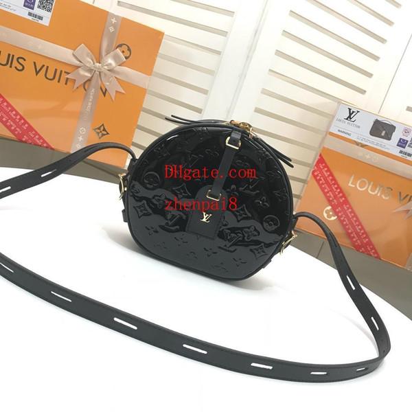 Bolso de la manera de la marca de calidad superior Negro en relieve caja de estilo Bolso bandolera de cuero genuino bolso de hombro bolsos bolsos mujeres QW-11