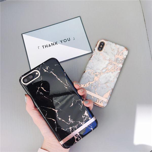 Freier Verschiffen EGEEDIGI Luxuxmarmortelefon-Kasten für iPhone 7 Fall für iPhone X 7 6 6S 8 plus Fall-Abdeckung XS MAX XR 8Plus 7Plus Heißes Stempeln