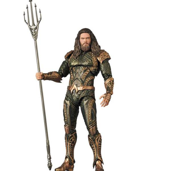 Mafex 061 Eisen DC Justice League Aquaman Statue PVC Sammelgelenke Bewegliche Action Figure Spielzeug 16 cm