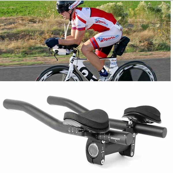 Bike Aluminum Triathlon Handlebar Racing Bike Adjustable Rest Handlebar Separated 2pcs Pipe Rest End Free Shipping