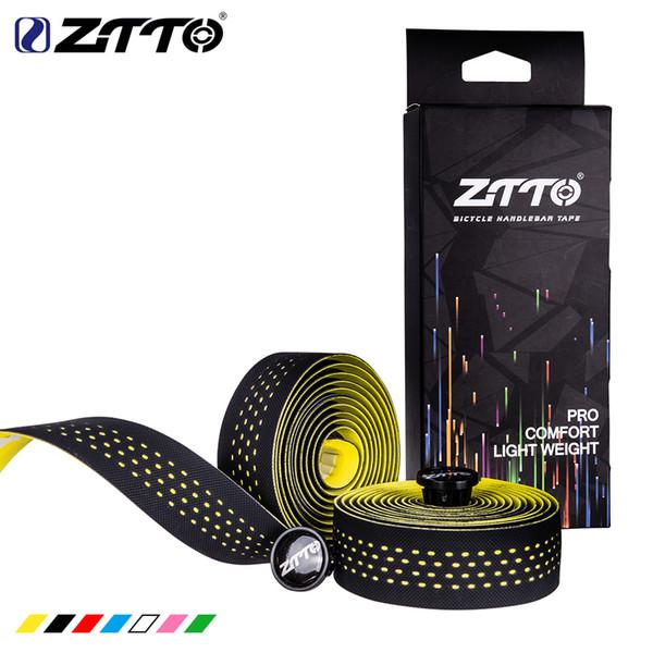 ZTTO Soft Road Bike Bicicleta Manillar Cork EVA PU Bar Tape Profesional Ciclismo Amortiguación Anti-Vibración Wrap Con 2 Bar Plug