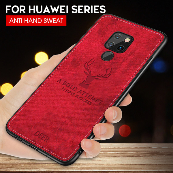 shockproof deer cloth case for huawei mate 20 lite p20 p30 pro p10 lite p smart 2019 nova 4 3i y7 prime 2019 for honor 8x max 10 - from $2.17