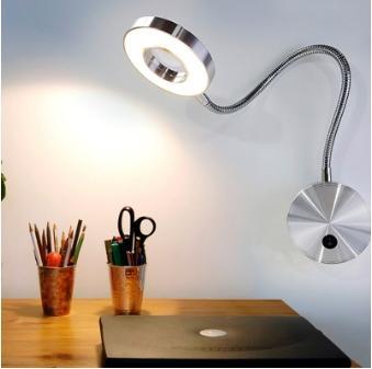 5W LED Hoses Wall Lamp Flexible Home Hotel Bedside Reading Lamp Wall Light Modern Fashion Book Lights Indoor Aluminum LED Bulbs