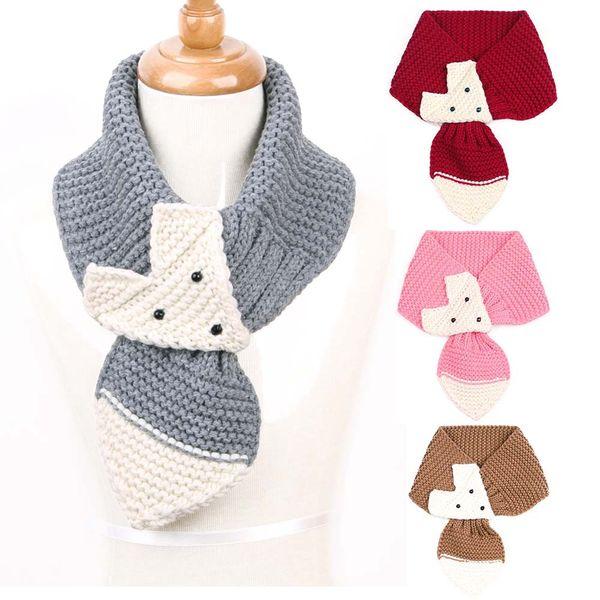 Linda Navidad de punto bufandas para bebés de invierno para niños bufanda Wrap para niño niñas de dibujos animados 10 opciones B0031 regalo del bebé