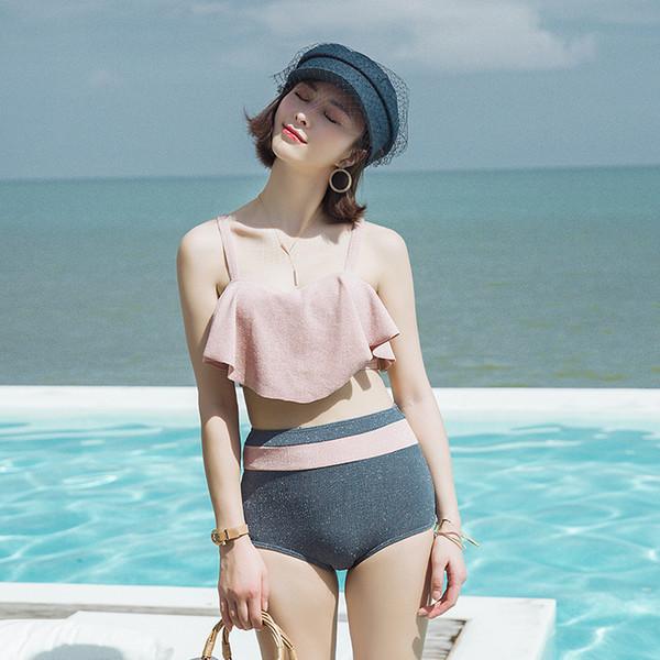 Surf Wear Women Womens Swim Swimwear Plus Size 2019 New Swimsuit Female Block Skirt Sexy Backless Print Polyester Sierra Surfer