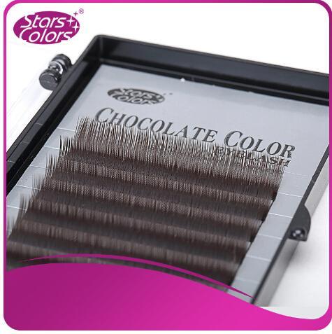 Hot sell thick eyelash color chocolate lash false eyelash single eyelashes nature Brown eye lashes Cilia makeup