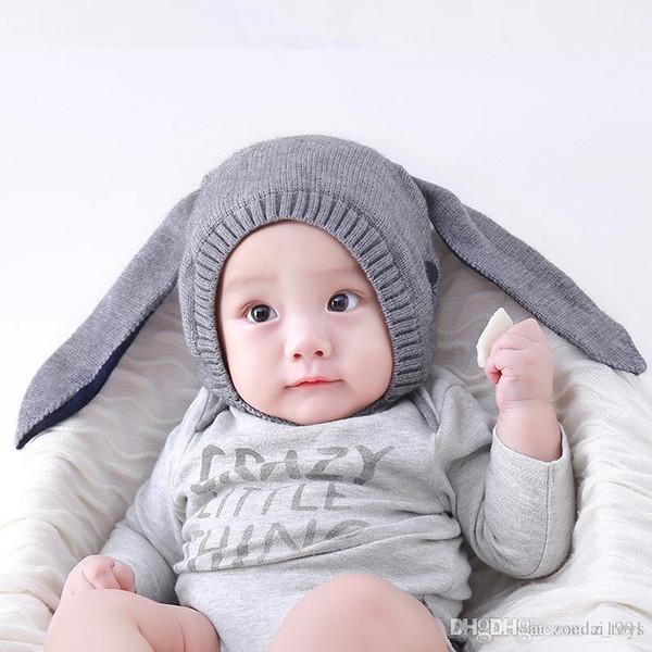 Chapeaux de bébé avec des oreilles Bébé Toddler Enfants Garçon Fille Tricoté Crochet Oreille Bonnet Hiver Chaud Chapeau Casquette prix le plus bas bébé fille chapeaux