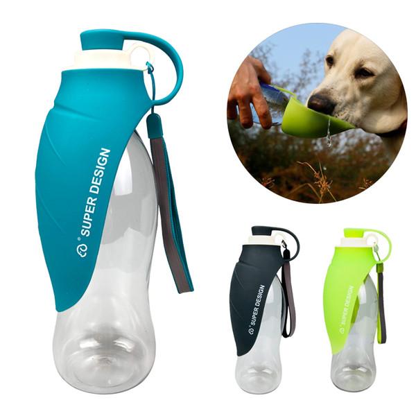 580ml Портативный собак Pet бутылки воды мягкий силиконовый лист Design Travel Dog Bowl Для Щенков Cat питьевой Открытый Pet Диспенсер для воды