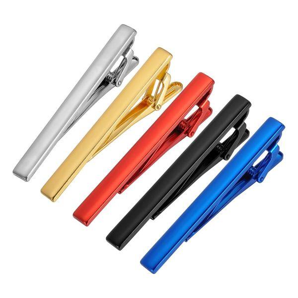 Classique Mat Cravate Hommes Bijoux Simple Brossé Lisse Haute Qualité Pince À Cravate Fermoir 6 Couleurs Cuivre Pin Cadeaux