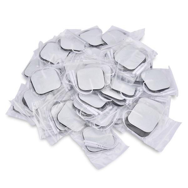 50pcs/100pcs Self Adhesive Replacement Electrode Pads Square 4*4/5*5 Cm Muscle Stimulator Electric Digital Machine Massager T190711