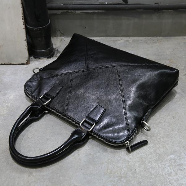 Nueva Moda Bolso Negro Hombres Messenger File Bags Pu Leather Man Bags Hombre Hombre Negro Maletín Hombre Casual Bolso de hombro Suave