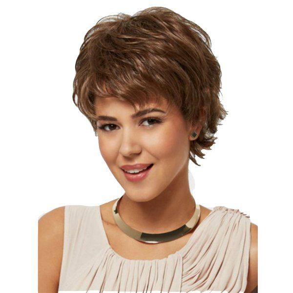 Hot Blonde Short Curly Synthetic Hair Wig Full Wigs For White Woman Lace Wigs Buy Short Wigs With Bangs From Janely8 25 13 Dhgate Com