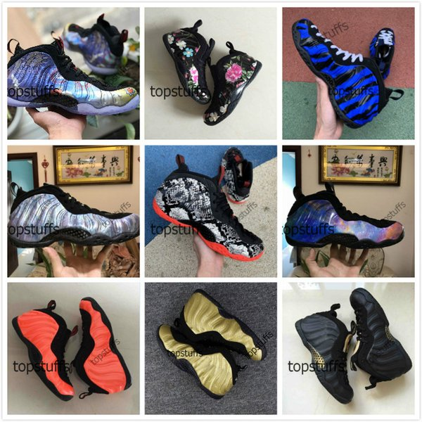 Penny Hardaway Basketball Shoes Men Foam One Floral Snakeskin Big Bang Sequoia Lunar New Year Galaxy 2.0 Memphis Tigers Blue Foams Sneakers