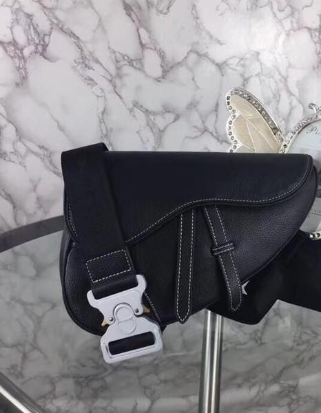Hochwertige Designer Satteltasche aus echtem Leder Modemarke Männer Brusttasche
