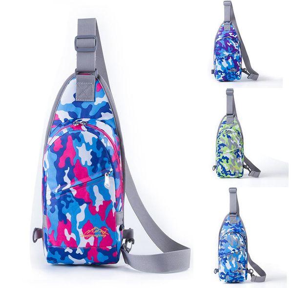 new Durable Nylon Small Chest Bag Outdoor Water Resistan Zipper Travel Sport Shoulder Bag Sling Backpack
