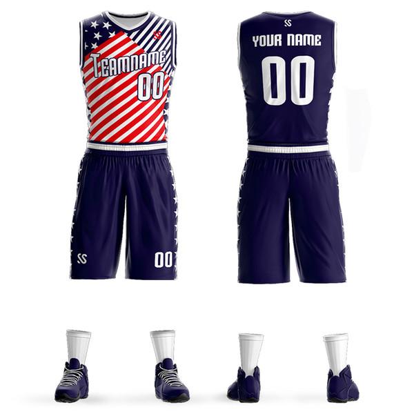 Customized Mens Kids Basketball Jerseys Sets Team Uniforms Child Sport Kit Clothes Jersey Youth Basketball Shirts Shorts Print