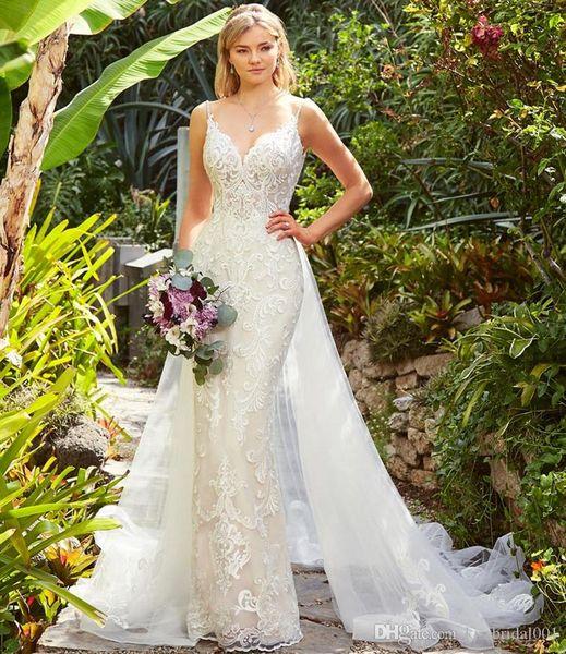 Abiti da Sposa Overskirts Wedding Dresses Lace Wedding Dress Mermaid Bridal Gowns Detachable Skirt Bride Formal Gown