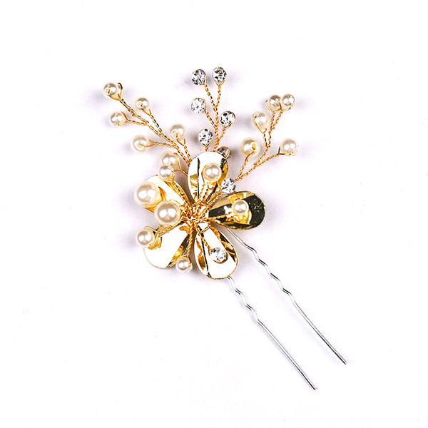 Women hair hairpin, golden flowers hair hairpin, Europe and the US hot selling hand-woven headwear, banquet headwear Accessories Wholesale