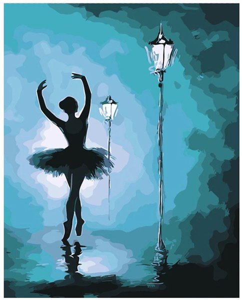 """Kits Paint Oil Paint Adult Hand Painted DIY Painting By Numbers-European and American ballet 16""""x20"""""""