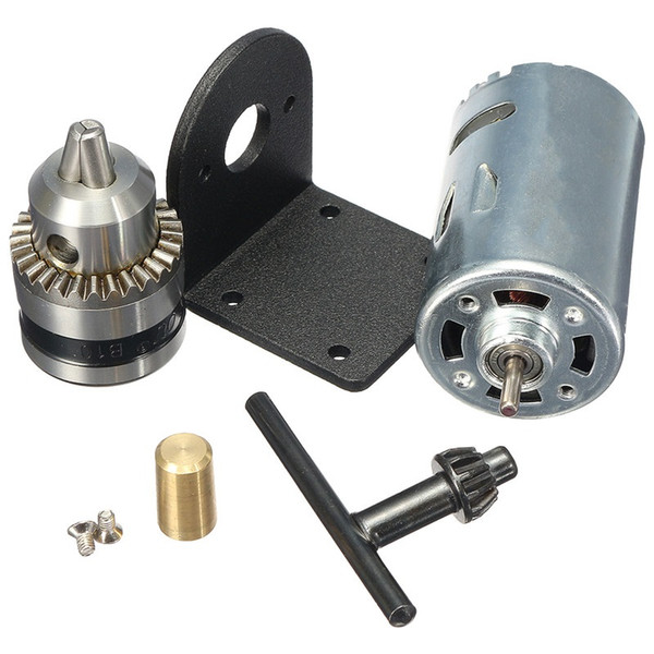 DC 12-36V Lathe Press 555 Motor With Miniature Hand Drill Chuck and Mounting Bracket DC Motor