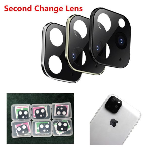 Aplicable para iPhone X XS MAX segunda lente Cambio para iPhone 11 Pro Max Etiqueta lente de la cámara Modificado cubierta de aleación de nuevo caso de destello de Trabajo