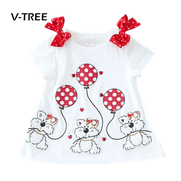 baby girls t-shirt summer style shortsleeve cute bear t-shirt for girl shirt kids children outwear baby brand clothes 2-7y, Blue