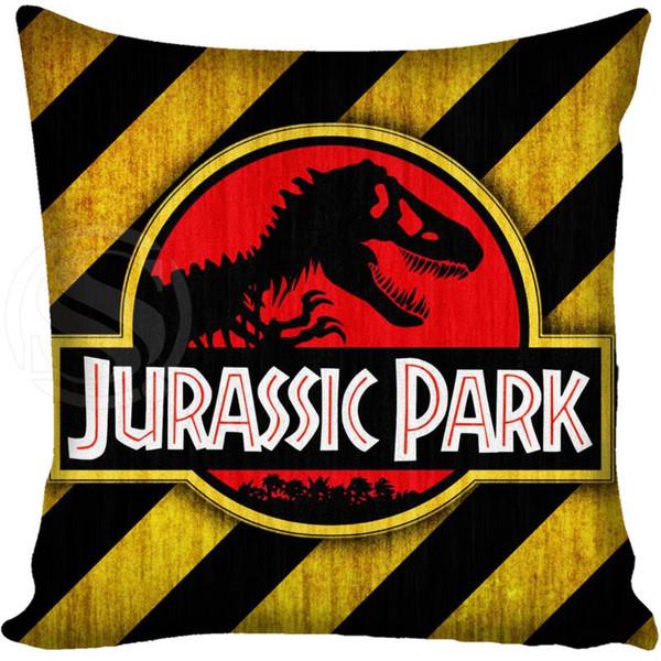 Customized Pillow Cover Jurassic Park Logo Decorative Pillowcase Square Zipper