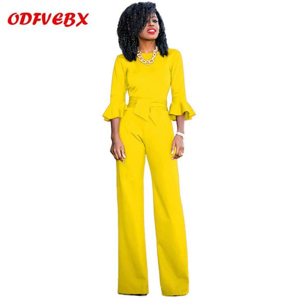 sale retailer famous brand sells Acheter Vêtements De Mode Explosion Sexy Combinaison Femme 2019 Nouvel Été  Trompette Manches Zipper Pantalon Combinaison De $47.4 Du Clothesg009 | ...