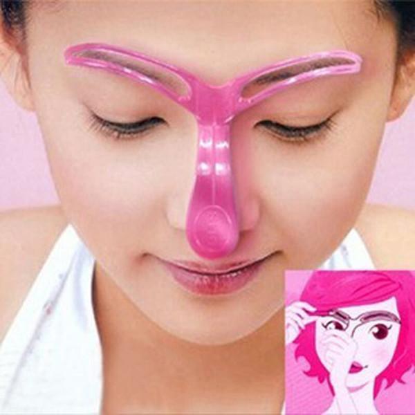 4/1 adet Kullanımlık Kadınlar Kaş Şekillendirici Stencil Göz Şekillendirme Çizim Kılavuzu Şablon Kartı Kalıcı Makyaj Aracı Kaş Arttırıcılar