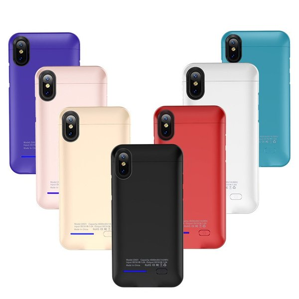 Newest charger case for iPhone XS MAX XR X 6s 7 8 plus built-in magnet Ultra Thin Backshell wireless charge case External Battery power bank