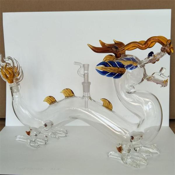 New Colorful Dragon Arab Hookahs Shisha Fashion Adult Bar Club Party Glass Bongs Water Pipes Smoking Tools dab Oil Rig Cool Home Decor 2019