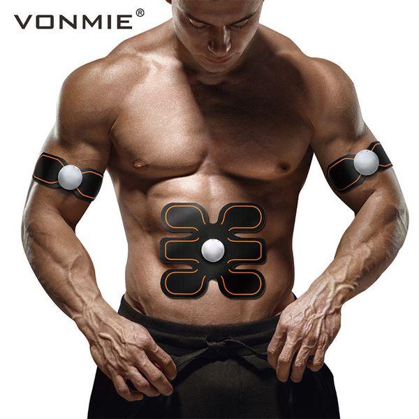 VONMIE EMS Abdomenal Massager del brazo S4B04 Electroestimulador Cinturón adelgazante vibrante Inicio Deporte Fitness ABS Salud Decenas Máquina Y181122