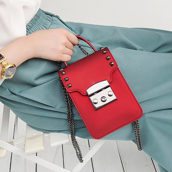 Rivet Jelly Bag Women Shoulder Pvc Solid Color Messenger Bags Ladies Brands Designer 2019 Crossbody Bags For Women