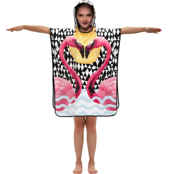 ins hot sale baby girls shower towels kids flamingo blanket kids shower towels&robes children bath towel