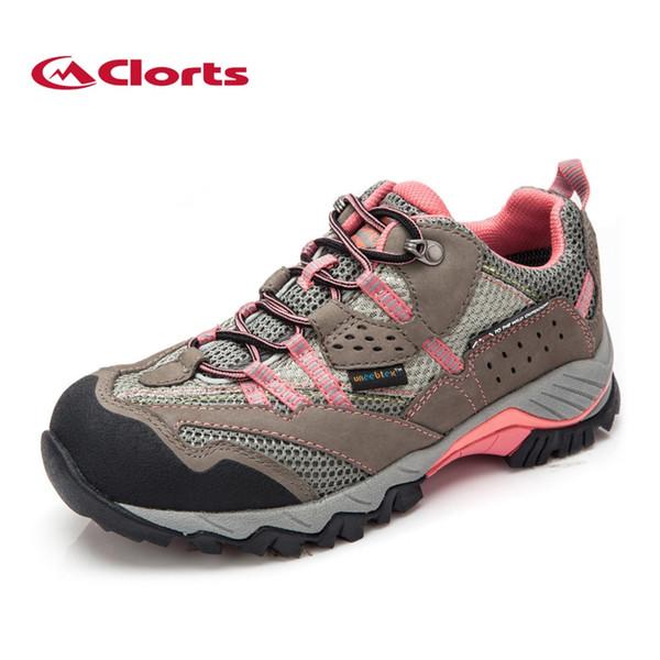 Clorts Senderismo Zapatos Mujer Zapatos al aire libre impermeables Mujeres Trekking bajo para escalar HKL-829F # 325595
