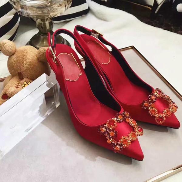Rote Unterseitenfersen Modeluxusdesignerfrauen beschuht Damehochzeitsfersen beschuht Brautkleidschuhe für Sommerluxus 9901