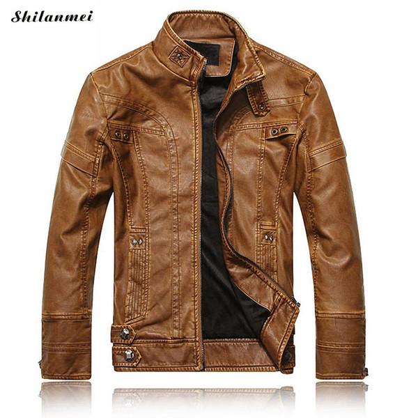 Mens Leather Jackets Men Jacket High Quality Classic Motorcycle Bike Cowboy Jackets Male Plus Velvet Thick Coats M-3XL