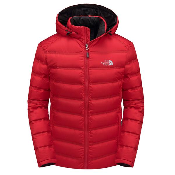 kuzey ceket parka aşağı Erkekler aşağı kapüşonlu beyaz ördek Açık yelekleri FACE spor kapüşonlu sıcak ceket açık eğlence kayak Windproof