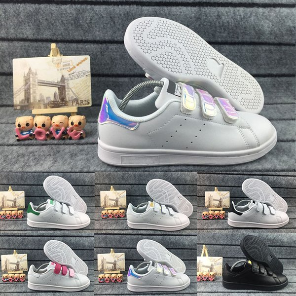 Sıcak 2018 Moda Erkekler Rahat Ayakkabılar Süperstar StanSmith Beyaz Balck Kadın Düz Ayakkabı Kadın Tasarımcı Spor Sneakers 36-45