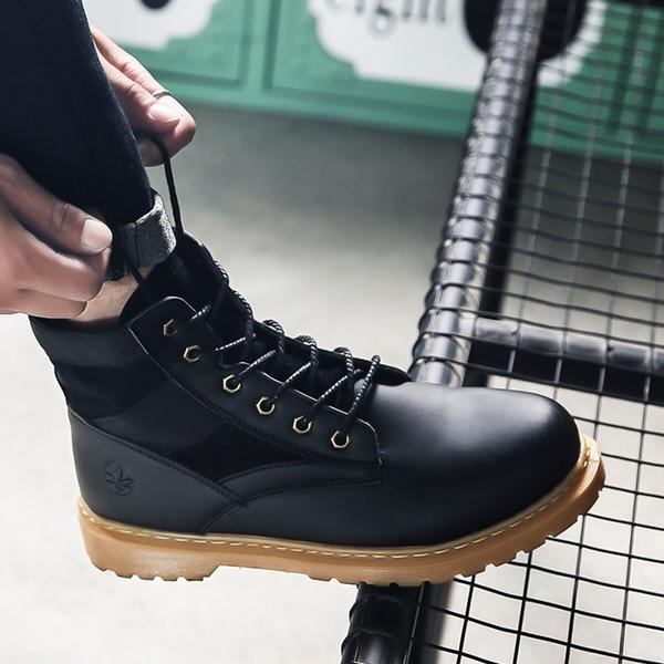 Invierno Otoño Hombres Botas Militares Calidad Fuerza Especial Táctica Desierto Combate Tobillo Barcos Ejército Zapatos de Trabajo Botas para la Nieve