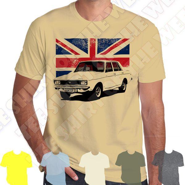 Hillman Hunter Gt GLS mens 100% cotton T-shirt Personal plate +7 colours of Tee Men Women Unisex Fashion tshirt Free Shipping