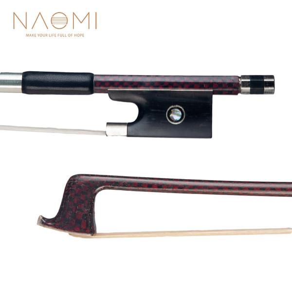 NAOMI Violin Bow 4/4 Carbon Fiber Bow For 4/4 Full Size Violin W/ Paris Eyes Violin Bow Parts Accessories New