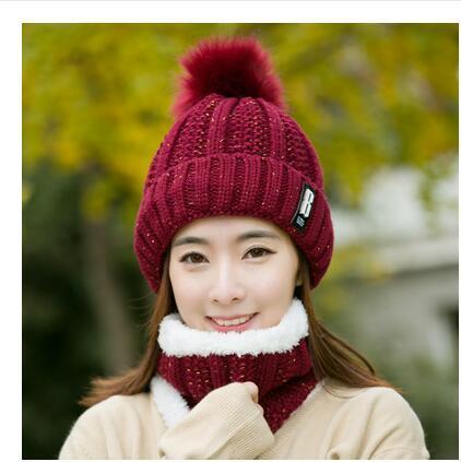 Red wine Hat bib set