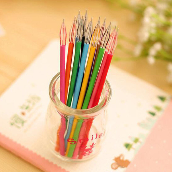 2019 12PCS/Set Beautiful Stationery Diamond 12 Colors Gel Refill Office Stationery School Supplies Multicolor Korea Pens For Kids