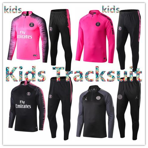 2019 2020 Paris Jordam kids jacket training suit Champions League Survetement 19 20 PSG MBAPPE football jackets POGBA soccer kids tracksuit