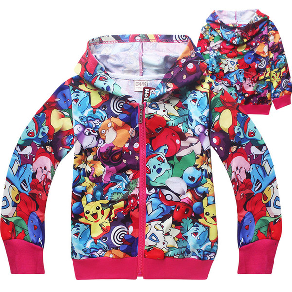 Hot Anime 3D Printed Kids Zipper Hoodies 2 colors 4-12t Boys Girls Hoodies Kids Girls Boys Outdoor Coat Kids Designer Clothes SS255