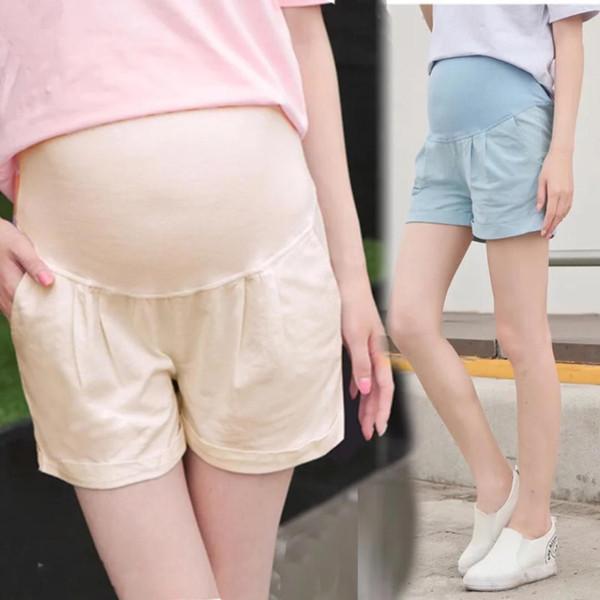 Maternity Shorts Cotton linenPregnancy Pants For Pregnant Women Clothing Elastic Waist Casual Shorts Pants Mother Wear Clothing