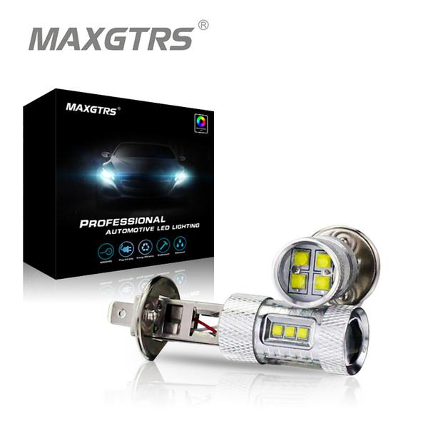2x H3 H1 30W 50W 80W CREE Chip LED Weiß / Rot / Bernstein Auto Auto Scheinwerfer Nebelscheinwerfer Tagfahrlicht Lampe 6000K