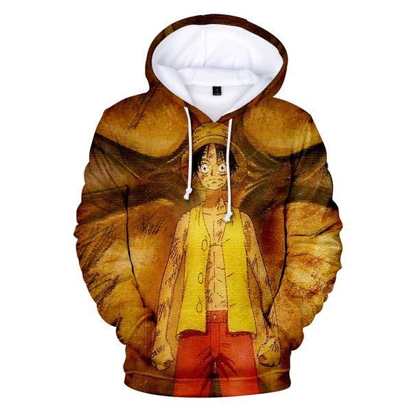 3DHot Anime Print One Piece Hoodies Men Sweatshirts Fashion Desige Polluvers Male/Female Confortable Leisure Cartoon Outwear Top