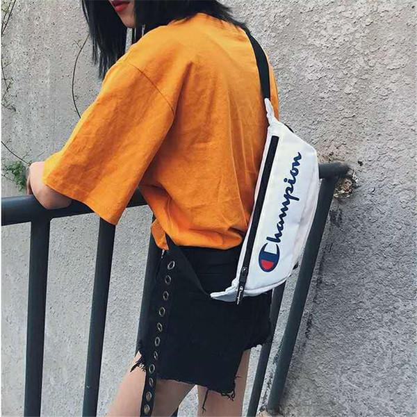 Fashion Mens Crossbody Bag with Print Logo Brand Chest Bag for Women High Street Crossbody Bag